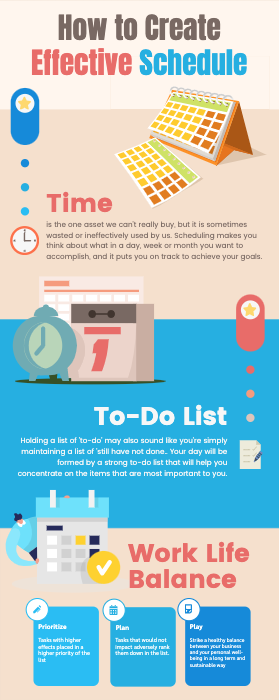 How to Create Effective Schedule Infographic