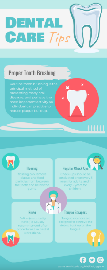 Dental Care Tips Infographic