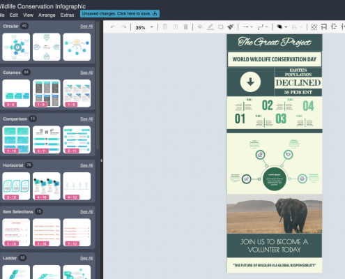 Easy to use infographic poster creator
