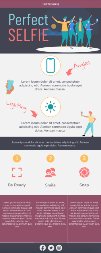 How to Take a Good Selfie Infographic