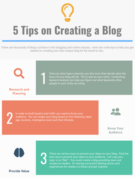 5 Tips on how to create a blog